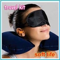 air shade - set New in travel kit neck air cushion pillow eye mask ear plug sleep in the car shade tents camp etc