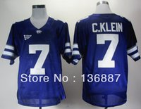 big outlets - Factory Outlet Kansas State Wildcats Collin Klein Purple Big Patch Embroidery logos NCAA College Football Jerseys Can Mix Order Jerse