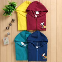Wholesale Spring Autumn Winter Value Goods Kids Clothing Litte Colored Zebra Cartoon Pattern Children s Trench Coats Unisex kids Tench Coats C
