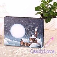 big houses photos - 10 Inch Big Size Snow House Cover Pattern Handmade DIY Photo Album Personalized Coner Photo Album Baby Grows Photo Book