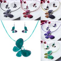 earrings sexy - Sexy Women Rhinestone Necklace Earrings Sets Lady Jewelry Pendants Necklace For Party Presents TL9395