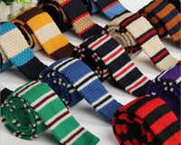 Wholesale S Fashion Men s Colourful Tie Knit Knitted Tie Necktie Narrow Slim Skinny Woven