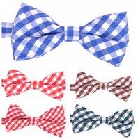 Wholesale COOL Men New Formal commercial bow tie male High grade cotton grid butterfly cravat bowtie butterflies