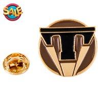 Wholesale fashion unisex brooch Tomorrowland brooch gift box packaging Dia CM