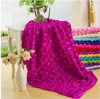Wholesale Y Wedding Party Decorate Polyester Rosette D Embroidery Lace Fabric Chair Cover Tablecloth Carpet Background DIY Material