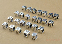 cheap pandora bracelet beads - 26 letters charm Bead silver beads for Pandora bracelets necklaces fashion Jewelry DIY beaded jewelry accessories cheap jewelry WD