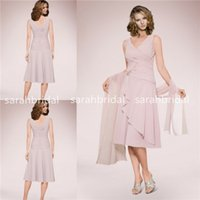 Model Pictures women dress suits - 2015 Mother s Suits Dresses Of the Bride Groom For Plus Size Women Sale Cheap Knee Length Chiffon Summer Wedding Party Gowns with Wrap