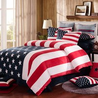 american mattress - New American Style The Stars and the Stripes Velvet Velour Fleece Bedding sets Duvet Cover Flat sheet or Mattress cover set no comforter