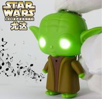 Wholesale 2015 Star Wars Keychain LED Light Luminous keychain with Sound Creative Gift Key Chain Key Rings