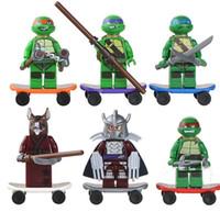 Wholesale Teenage Mutant Ninja Turtles serie Action Figures Minifigures styles a set suit with arms skateboard Mirage Teenage Mutant Ninja Turtles