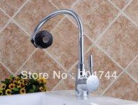 Wholesale Flexible hose Chrome Finished Swivel Kitchen tap