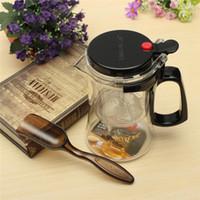 automatic teapot - Hot Sale ml Automatic Art Tea Cup Heat Resistant Glass Tea Pot Flower Tea Set Coffee Teapot Convenient Kitchen Office Tea Set