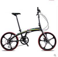 folding bikes - Sava V8 aluminum inch folding bike disc brakes male and female students cycling Shimano shift one round