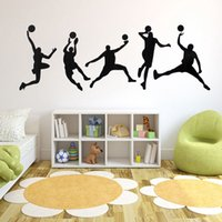 best windows media player - Brand New Five Basketball Player Sport Living Room Kid Bedroom Decal Vinyl Sticker For Wall Window Best Promotion