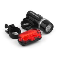 Wholesale Waterproof Bike Bicycle Lights LEDs Bike Bicycle Front Head Light Safety Rear Flashlight Torch Lamp Black bike accessories