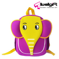 Wholesale 3D cartoon Elephant backpack children Neoprene waterproof backpack