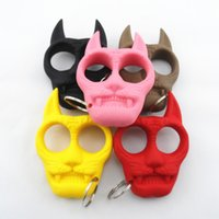 Wholesale 2015 Self Defense Tiger Head Novelty Keychain Defend Key Chain Chaveiro Key Ring Holder key rings cheap gift