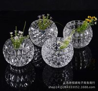 clear glass ornaments - clear glass vase circular process of crystal ball hydroponic European style and modern fashion Home Furnishing ornaments