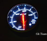 Wholesale Universal Car Autogauge oil temp Fuel Gauges PSI Pressure Vacuum Gauge Meter LED New OIL TEMP press Instruments