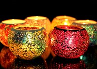 best articles - 2016 Best selling Mosaic glass candle holders european style candlelight dinner wedding candle cup furnishing articles wedding gift creative