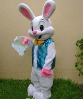 Wholesale PROFESSIONAL EASTER BUNNY MASCOT COSTUME Bugs Rabbit Mascot Costume fancy dress Adult SizeFactory direct sale
