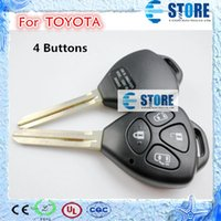 Wholesale 4 Buttons Remote Key Shell for TOYOTA Car Key Cover for Replacement High Quality DHL Free A