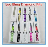 ego bling - Ego Bling Diamond Kits CE4 CE4 Atomizer Ego T Crystal Shinning Battery mAh Batteries E Cig Electronic Cigarette e cig mods Kit