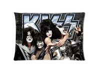 american roll cover - KISS American Rock N Roll Band Custom Zippered Rectangle Pillowcases Pillow Cover Cases Size x30inch Two sides U2