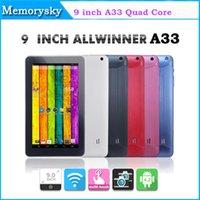 Precio de Tablet 9 inch-2014 Nueva de 9 pulgadas A33 Tablet PC Allwinner A33 Quad core de Doble cámara Android 4.4 Tablet 512 mb de RAM + 8GB ROM con Bluetooth Tablet PC 000856