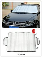 Wholesale 70x150cm Auto Expression Winter Windshield Cover Warrior Car Solar Snow Ice Protector Magnetic Foils
