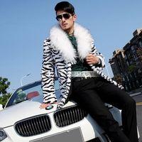 Wholesale Fall new men s imitation fur shawl collar jacket imitation rabbit fur coat fox fur long section coat F104
