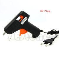Wholesale 20W Electric Heating Hot Melt Glue Gun Sticks Trigger Art Repair Tool mm Hot Melt Glue Sticks EU Plug