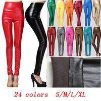 Cheap PU Leather leggings Best High Fashion pant