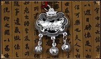 Cheap S999 Silver Baby Kids Longevity Locksterling Pendant Silver Children Jewelry Bless Peace and Health