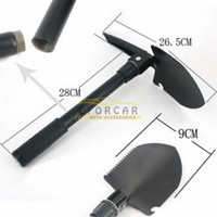 Wholesale Outdoor Folding Shovel Spade Pick Emergency Tool w Compass Army Pouch Foldable