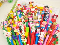 Wholesale 20 off Handmade cartoon polymer clay pen Creative clay ballpoint pen promotional advertising Children s school supplies SQ