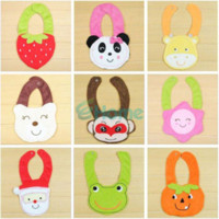 Wholesale Lovely Kids Baby D Animals Cotton Saliva Towel Waterproof Infant Bibs Lunch Bib bib towel towel quilt