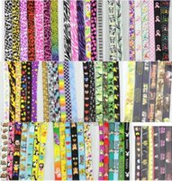 Wholesale mixed Cartoon including Leopard grain ribbon Lanyard with Lobster Clasp Fit Key ID Mobile Cell Phone Key chain sh23