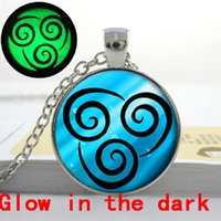 avatars photos - GL Glowing Jewelry Air Nomad Necklace from Avatar the Last Airbender Art photo glow in the dark necklace pendants