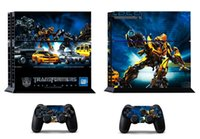 Wholesale Transformers Vinly Skin Sticker Protector for Sony PS4 PlayStation and controller skins Stickers