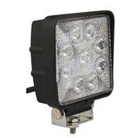 Wholesale 10pcs W LED Work Light Offroad Vehicles Headlight Spot flood Beam Driving Light ATV truck lamp cool white