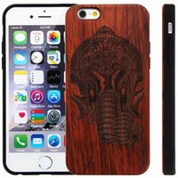 Wholesale Hot Newest Fashion wood Case For iphone Case inch Shell Phones For iphone6 plastic side case Phone Cases Back Covers