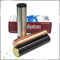 fit 18650 battery manhattan - Vaporizer Clone Manhattan Mod Black SS Red Copper Manhattan Mod with thread high quality Full Mechanical Mod DHL Free