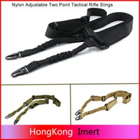 airsoft gun kit - Hot Nylon Multi function Adjustable Two Point Tactical Rifle Sling Hunting Gun Strap Outdoor Airsoft Mount Bungee System Kit
