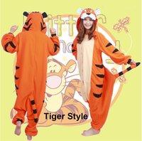 adult tiger pajamas - Cosplay Tiger Pajamas Hooded Conjoined Sleepwear Costumes Adult Unisex Onesie Soft Sleepwear