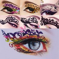 Wholesale 10pcs Fashion Tatoo Sexy Women Eyes Rock Stickers Transfer Crystal Temporary Tattoo Beauty Makeup EGNW