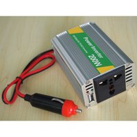 110V dc ac converter 12v 110v - DHL high quality V DC to AC V Adapter Car Auto Power Inverter Converter Adaptor W With USB port