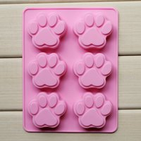 Wholesale 300pcs Silicone mold lattices cat footprint handmade soap mold silicone cake moulds DH10