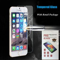 packing film - 0 mm for iphone Premium Tempered Glass Screen Protector Protective Film For iPhone Plus S6 Edge S6 S5 S4 S3 HTC M9 With Retail Pack