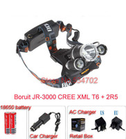 Wholesale CREE XM L T6 R5 LED Headlight LM V mA Output Head Lamp Adjustable Base Waterproof Rechargable